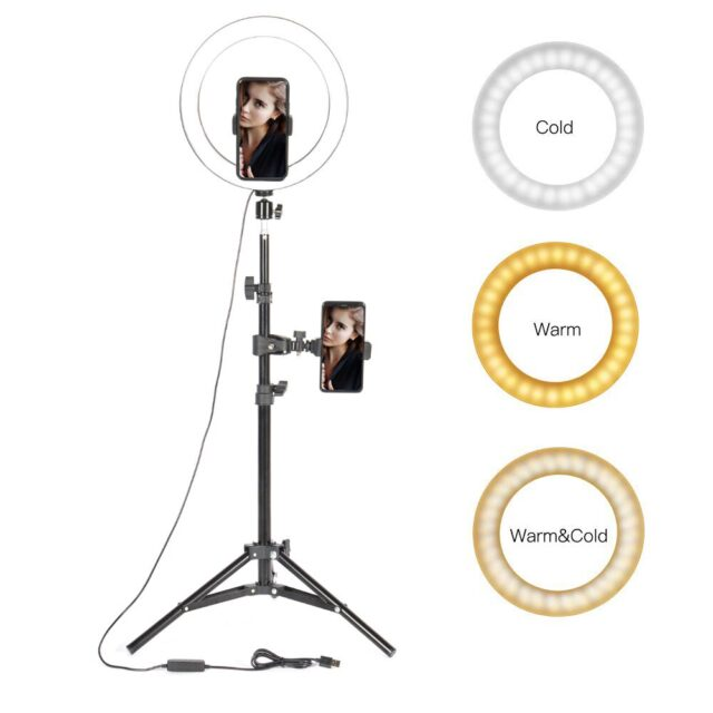 Tripod Ring Light 10 led - For  Smartphone ,  Youtube Makeup Video