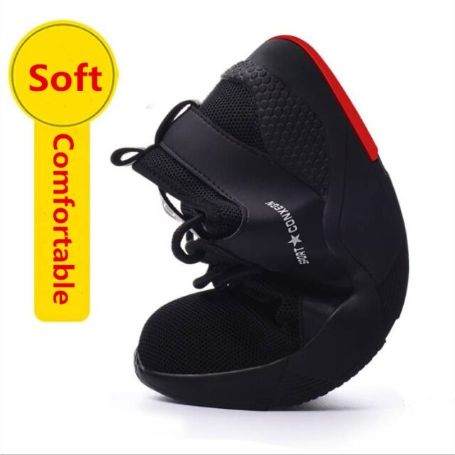 Men's Steel Toe Work Safety Shoes - Casual Breathable Outdoor Sneakers