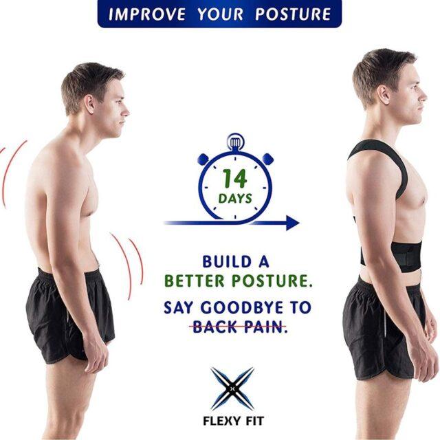 Posture Corrector Brace Shoulder Back Support Belt for Men Women