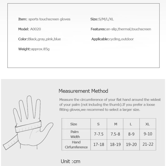 Winter Thermal Fleece Touchscreen Gloves Soft Fleece Gloves Cold Weather Fits Men & Women For Cycling Hiking Camping Skiing